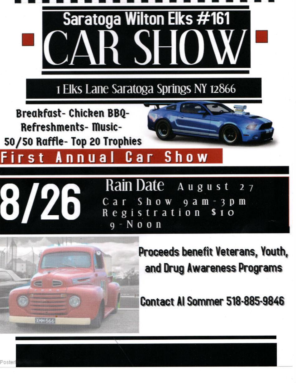 Saratoga wilton elks car show